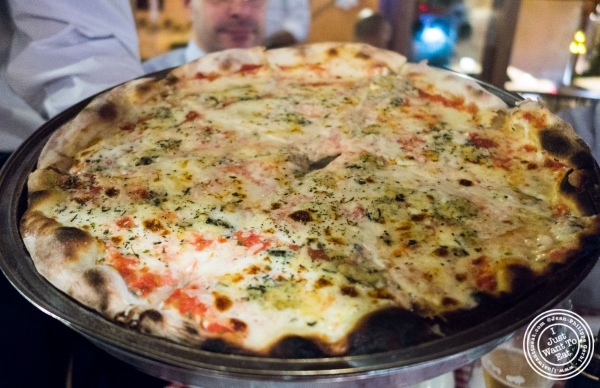quattro formaggi pizza at Margherita Pizzeria in Sao Paulo, Brazil