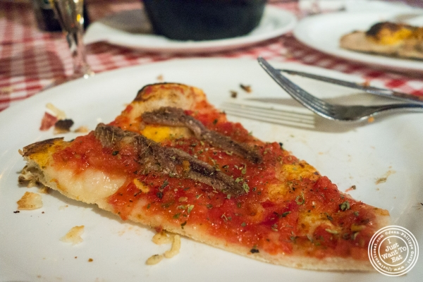 anchovies pizza at Margherita Pizzeria in Sao Paulo, Brazil