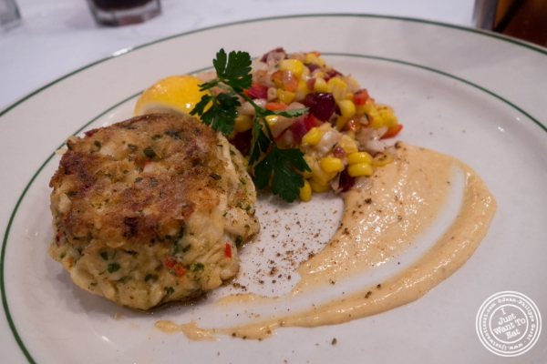 Crab cake at City Lobster and Steak in New York, NY