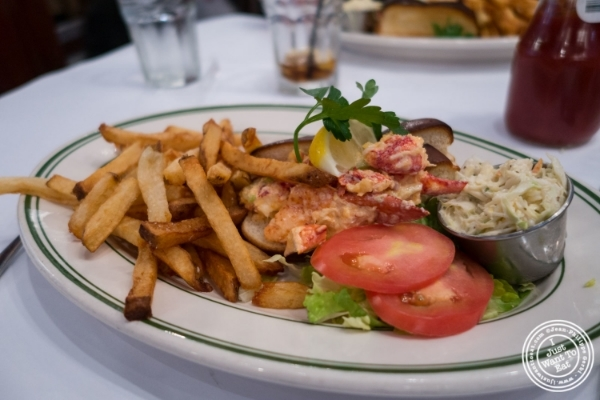 Lobster roll at City Lobster and Steak in New York, NY