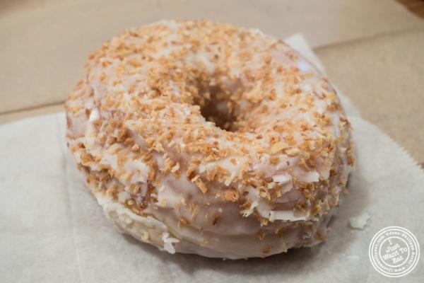 Toasted coconut donut atDough in Chelsea, New York, NY