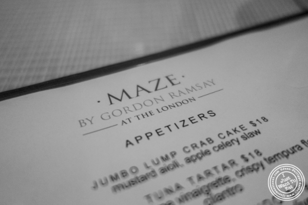 Maze by Gordon Ramsay in New York, NY