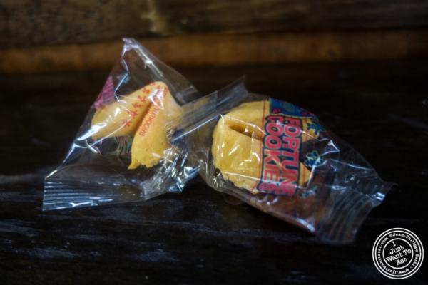 Fortune cookies atLo Fatt Chow, Healthy Chinese Cuisine, in Hoboken, NJ