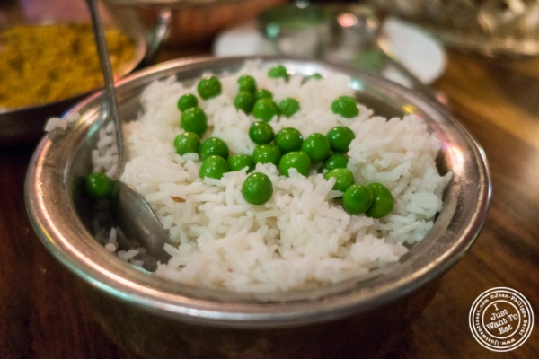 Pulao rice at Baluchi's, Indian restaurant in Tribeca, NYC, New York