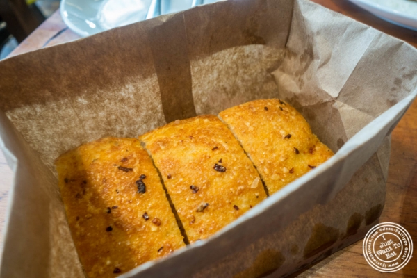 Focaccia  at   Giovanni Rana in Chelsea Market, NYC, New York