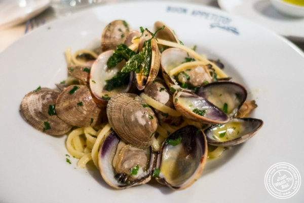 Linguine alle Vongole     at   Giovanni Rana in Chelsea Market, NYC, New York