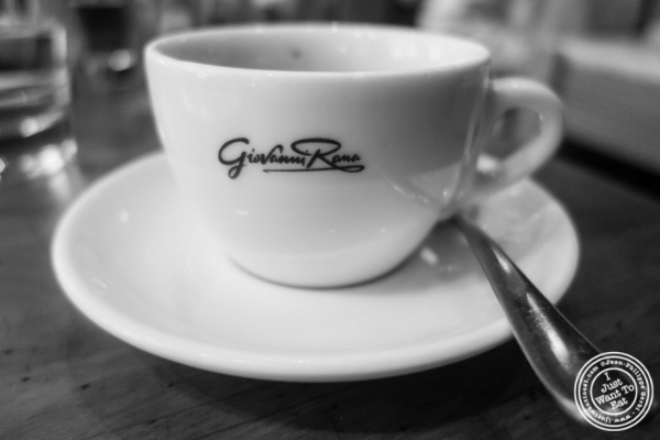 Espresso  at   Giovanni Rana in Chelsea Market, NYC, New York