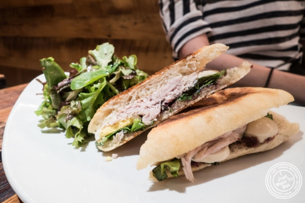 Nicoise panani at Cull and Pistol at Chelsea Market, NYC, New York