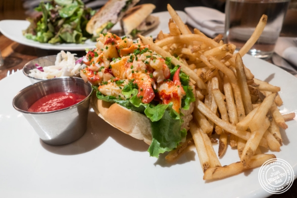 Lobster roll at  Cull and Pistol at Chelsea Market, NYC, New York