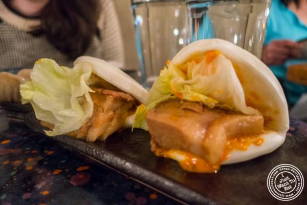 Pork belly buns atZutto, Japanese American Pub in Tribeca, NYC, New York
