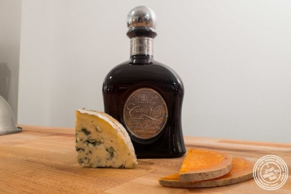 Casa Noble Tequila Anejo with Fourme d'Ambert and mimolette