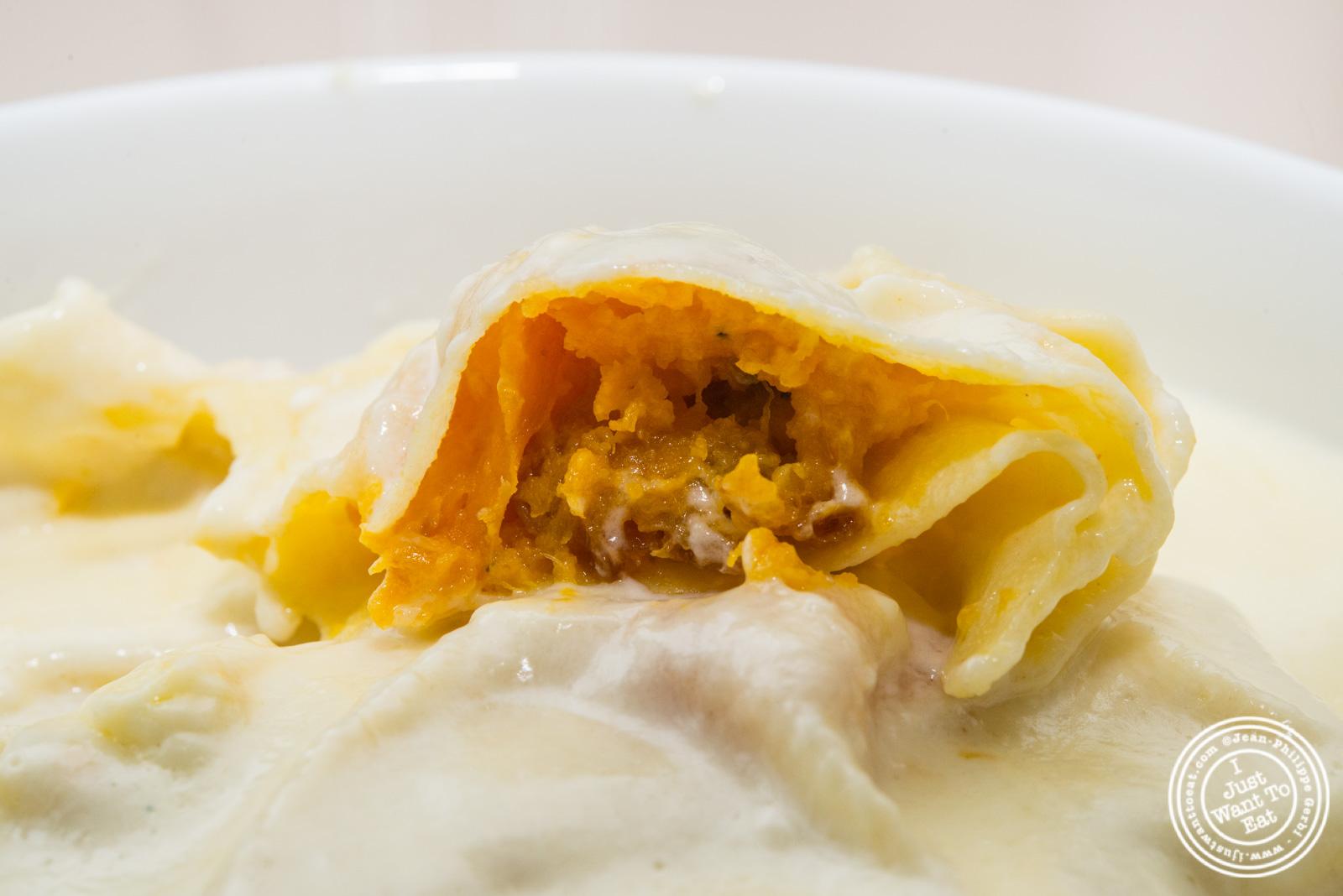 Butternut Squash Ravioli With Taleggio Cream