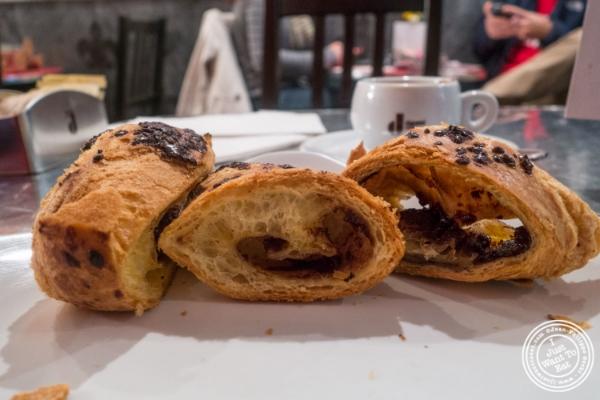 Nutella croissant atModa Espresso and Wine Bar in New York, NY