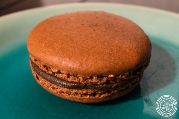 Dark chocolate atWoops Macarons and Cookies in NYC, New York