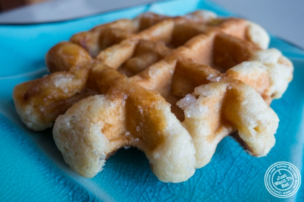 Belgian waffle at  Woops Macarons and Cookies in NYC, New York