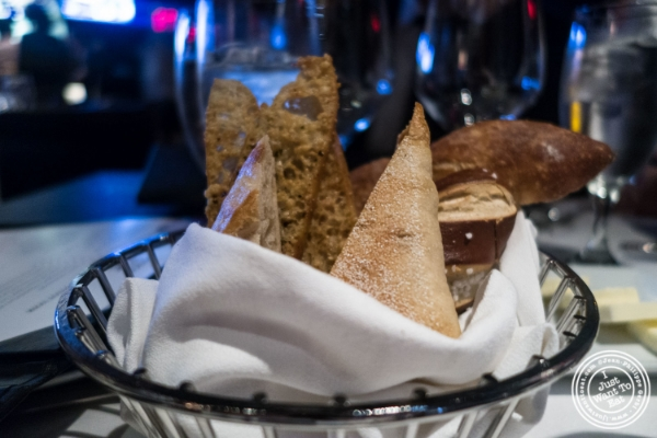 Bread basket at Mastro's Steakhouse in New York, NY