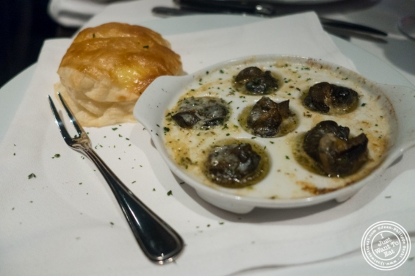 Escargots at Mastro's Steakhouse in New York, NY