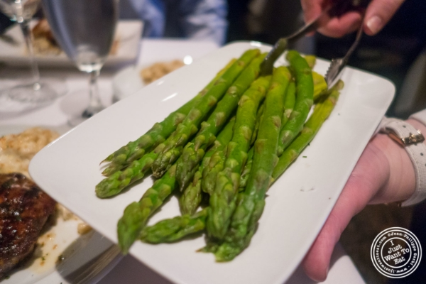 Steamed asparagus   at Mastro's Steakhouse in New York, NY