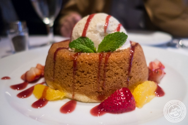 Warm butter cake   at Mastro's Steakhouse in New York, NY