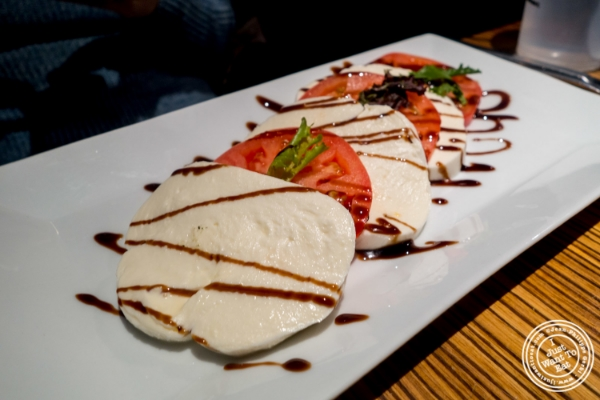 Homemade mozzarella and tomato at  Mikie Squared in Hoboken, NJ