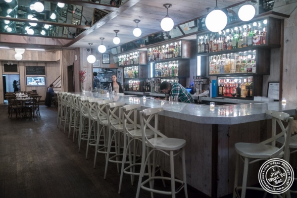 Bar area at Telepan Local in TriBeCa, New York, NY