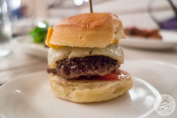 Lamb slider at Telepan Local in TriBeCa, New York, NY