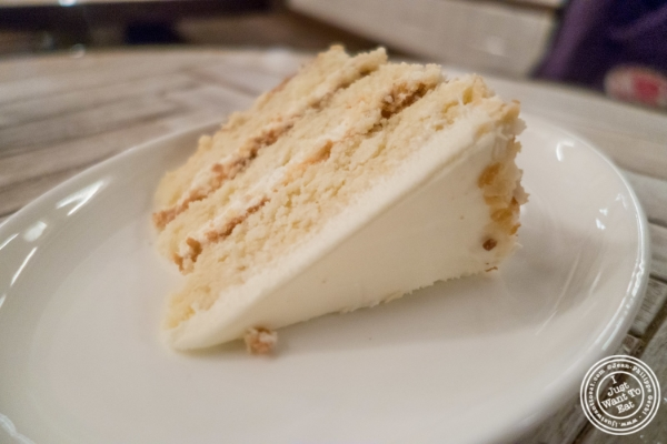 Coconut layer cake at   Telepan Local in TriBeCa, New York, NY