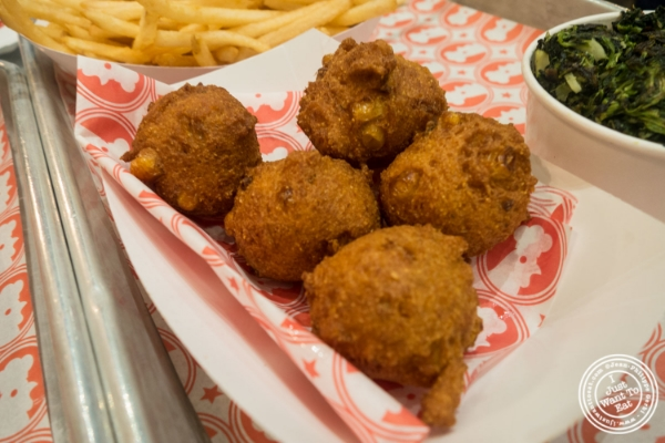 Hush puppies at  at   Blue Ribbon Fried Chicken in the East Village, New York, NY