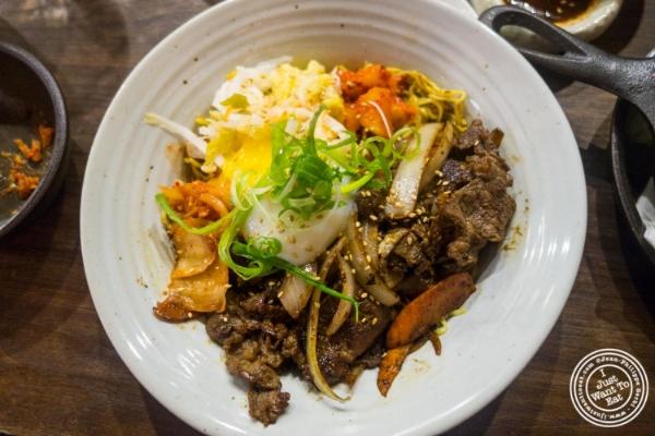 Bulgogi at  Mokbar, Korean ramen in Chelsea Market