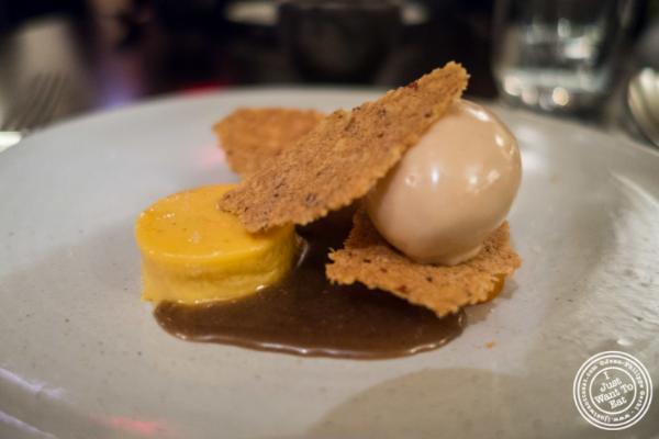 Dessert made with sweet potato atBetony in New York, NY