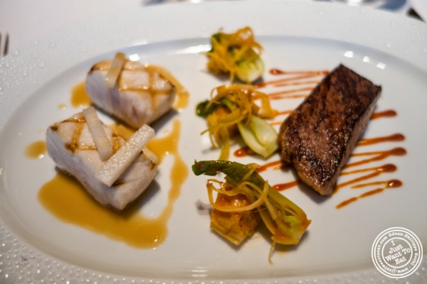 white tuna and kobe beef at Le Bernardin in New York, NY