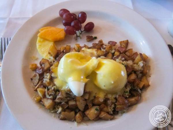Poached eggs with crab hash  at Amanda's in Hoboken, NJ