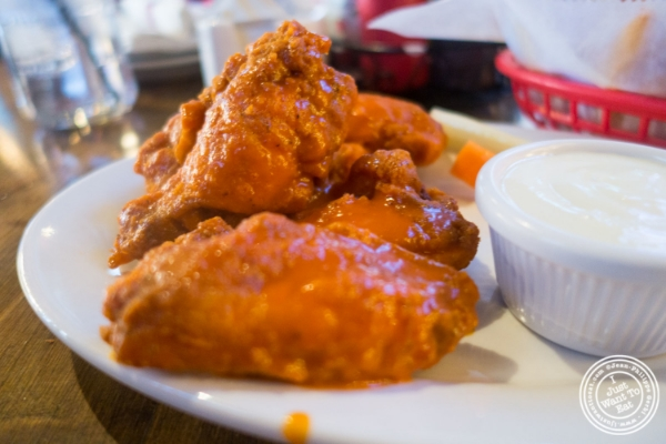 Buffalo chicken wings  at   The Smokin' Barrel in Hoboken, NJ