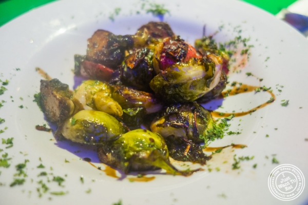 sautéed Bruseels sprouts at Le Village in New York, NY
