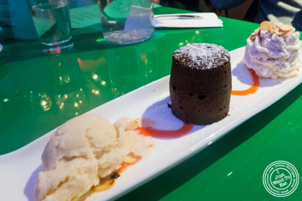 Frondant au chocolat at  Le Village in New York, NY