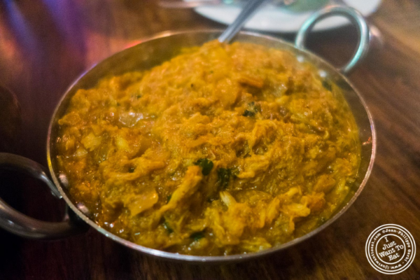 Crab curry at Baluchi's, Indian restaurant in Tribeca, NYC, New York