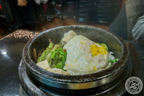 Tofu Bibimbap at Seoul Garden in New York, NY