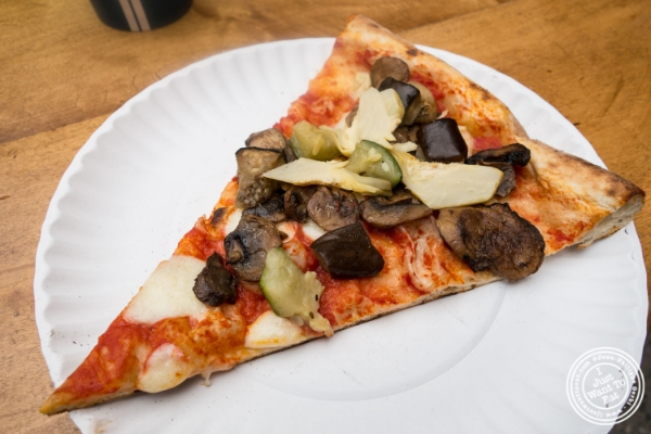Veggie pizza at Luzzo's at  The Gansevoort Market in New York, NY