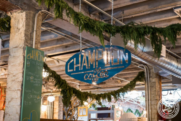 Champion coffee at  The Gansevoort Market in New York, NY