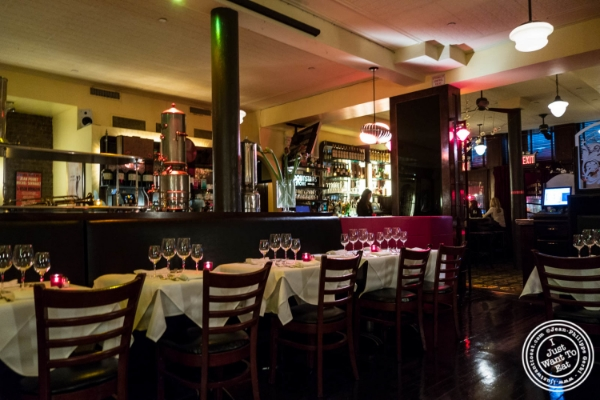 Dining room at   Cercle Rouge, French Bistro in Tribeca, New York, NY