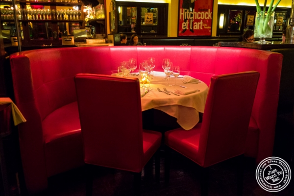 Dining room atCercle Rouge, French Bistro in Tribeca, New York, NY