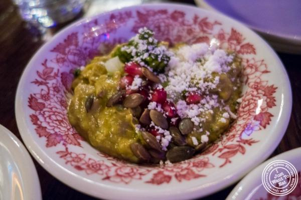 Verde guacamole atAñejo in Tribeca, NYC, New York