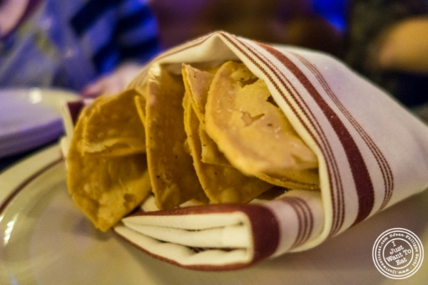 Tortilla chips atAñejo in Tribeca, NYC, New York