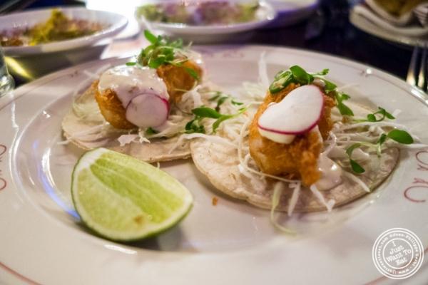 Fish tacos atAñejo in Tribeca, NYC, New York