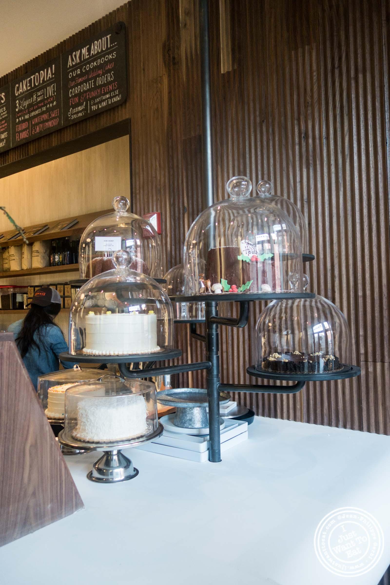 Cake pole atBaked, Bakery in TriBeca, New York, NY