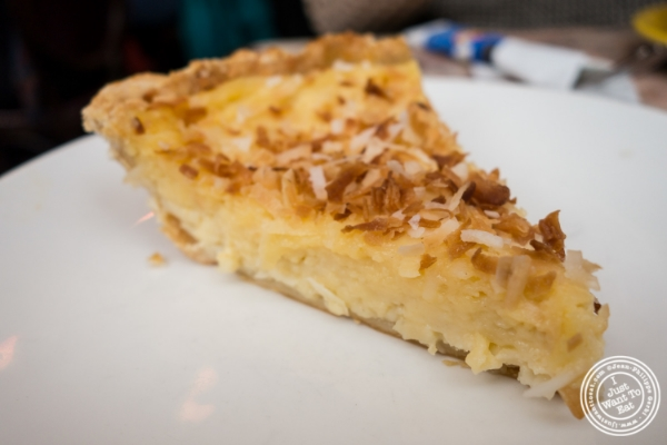 Coconut custard pie at   Café Lalo on the Upper West Side, New York, NY