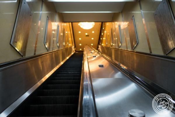 Escalator atJing Fong, Dim Sum Restaurant in Chinatown, New York, NY