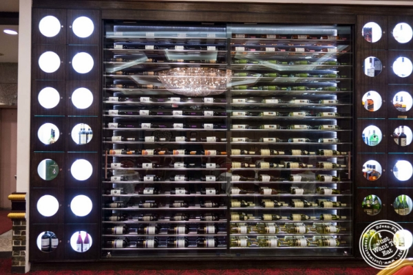 Wine cellar atJing Fong, Dim Sum Restaurant in Chinatown, New York, NY