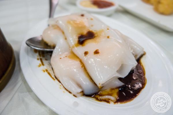 Shrimp rice noodlesat  Jing Fong, Dim Sum Restaurant in Chinatown, New York, NY
