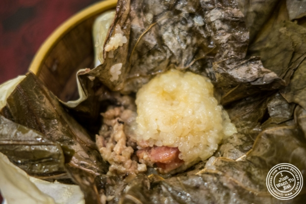 Sticky rice at at  Jing Fong, Dim Sum Restaurant in Chinatown, New York, NY